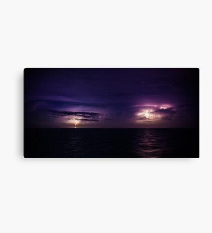 Lightning on the Sea Canvas Print