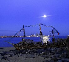 THE BLACK PEARL DRIFTWOOD SHIP by gothgirl