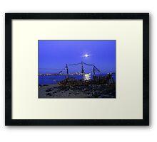 THE BLACK PEARL DRIFTWOOD SHIP Framed Print