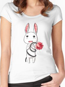 Bunny Flower Women's Fitted Scoop T-Shirt