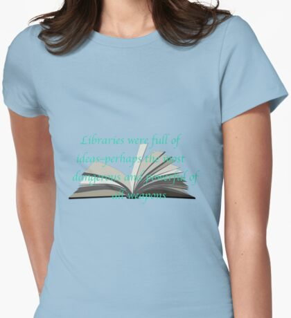 LIBRARIES: THRONE OF GLASS Womens Fitted T-Shirt