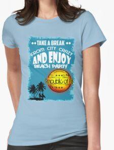 Republic Of Fiji Beach Day Womens Fitted T-Shirt