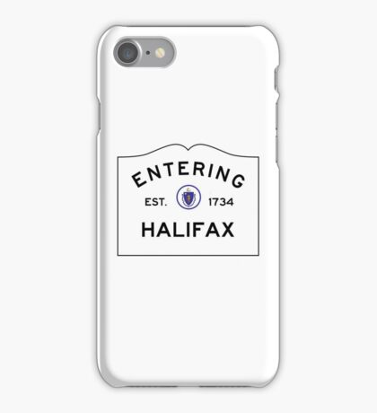 Entering Halifax - Commonwealth of Massachusetts Road Sign iPhone Case/Skin