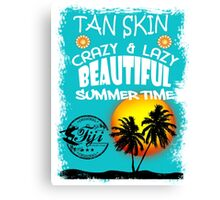 Fiji Summer Time Canvas Print