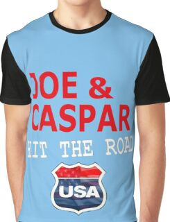 JOE AND CASPAR HIT THE ROAD USA Graphic T-Shirt