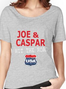JOE AND CASPAR HIT THE ROAD USA Women's Relaxed Fit T-Shirt