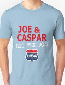 JOE AND CASPAR HIT THE ROAD USA Unisex T-Shirt