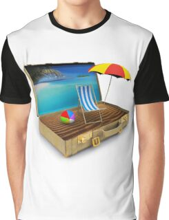 Beach Suitcase  Graphic T-Shirt