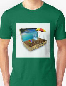 Beach Suitcase  Unisex T-Shirt