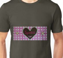 "Oktoberfest - gingerbread painting ""Spatzl"" (darling) on pink checks Unisex T-Shirt"