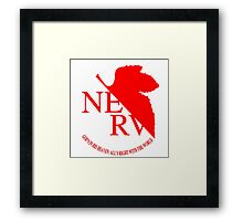 Nerv Logo, Neon Genesis Evangelion Framed Print