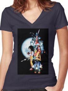 Vivi & Friends Women's Fitted V-Neck T-Shirt
