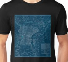 0165 Railroad Maps Dedicated to the city of Philadelphia through the directors of the Pennsylvania Railroad Company plan no 2 exhibits the streets with the present railroads Inverted Unisex T-Shirt
