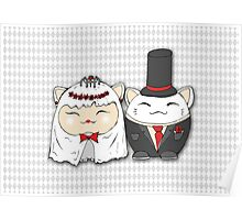 Wedding day luky cats Poster