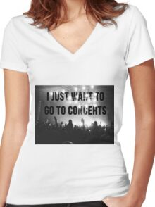 concerts pls Women's Fitted V-Neck T-Shirt