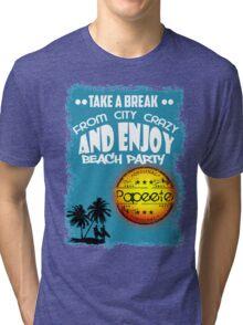 Papeete Tropical Beach Tri-blend T-Shirt