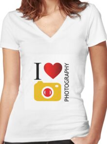 I love photography Women's Fitted V-Neck T-Shirt