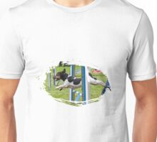 Jack Russel Terrier doing agility Unisex T-Shirt