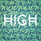 HIGH TYPO! Cannabis / Hemp / 420 / Marijuana  - Pattern by badbugs
