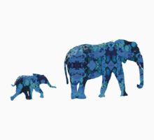 Inkblot Elephants Kids Clothes