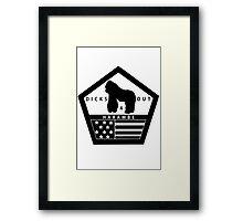 Remember Harambe (Dicks Out) Framed Print