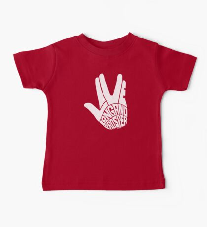 Live Long and Prosper White Baby Tee