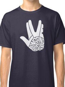 Live Long and Prosper White Classic T-Shirt