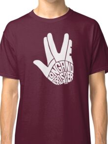 Live Long and Prosper White Classic T-Shirt