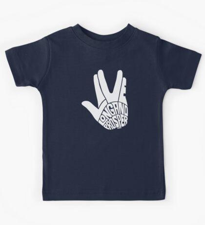Live Long and Prosper White Kids Tee