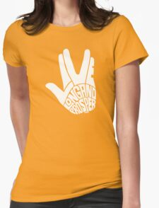 Live Long and Prosper White Womens Fitted T-Shirt