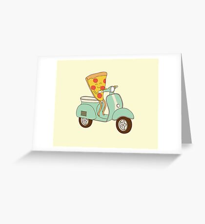 pizza delivery Greeting Card