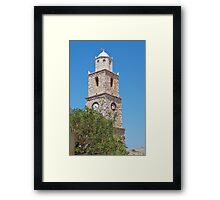 Clock tower, Halki Framed Print