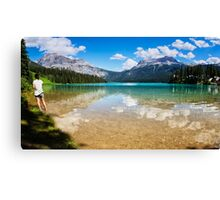 Emerald Lake Yoho National Park Canada Canvas Print