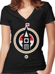 BBG019B —Tower (Reversed) Women's Fitted V-Neck T-Shirt