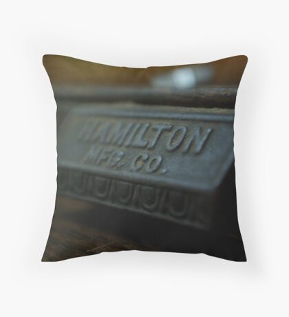 Box of letters Throw Pillow