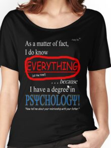 Psychology Degree (Dark Backgrounds) Women's Relaxed Fit T-Shirt