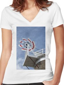 Cley Windmill Fantail Women's Fitted V-Neck T-Shirt