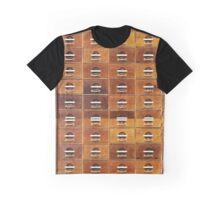 Vintage wooden drawers at the Royal Library in Copenhagen, DENMARK Graphic T-Shirt