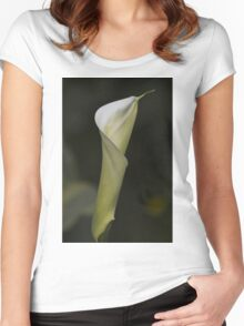 lily blooming in the garden Women's Fitted Scoop T-Shirt