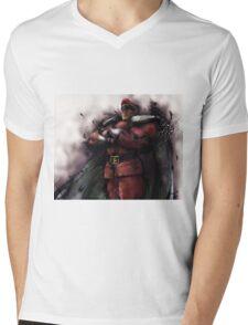 M. Bison Master Mens V-Neck T-Shirt