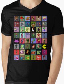 Pixel Heroes Mens V-Neck T-Shirt