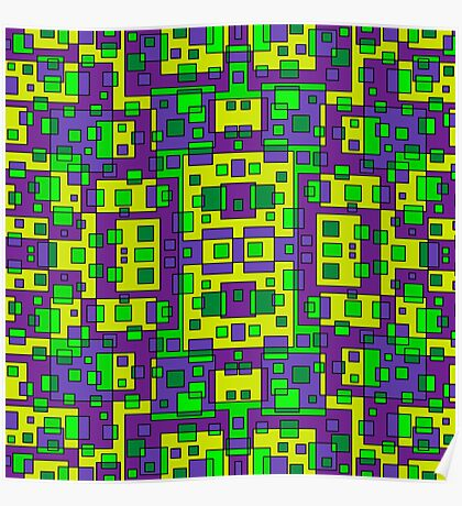 OVERLAP SQUARES Poster