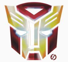 IronBot - Ironman Autobot Symbole - White Shirt by EdUnderground