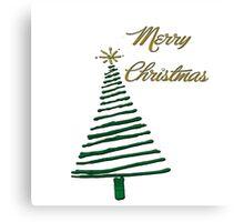 Merry Christmas Tree Canvas Print