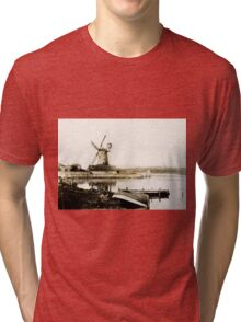 Historical Cley Windmill Tri-blend T-Shirt