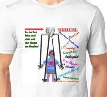 Zeit hier ein auf die Finger zu Klopfen! Schule ist.... Unisex T-Shirt