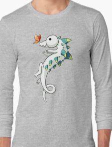 Crocodile and a Butterfly Long Sleeve T-Shirt