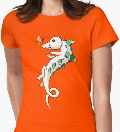 Crocodile and a Butterfly Womens Fitted T-Shirt