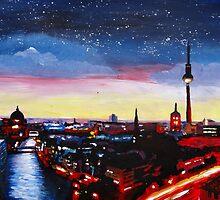 Gloomy Skyline Of Berlin Germany by artshop77