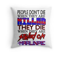MarlinPie Styled On Quote Throw Pillow